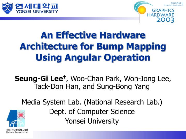 An effective hardware architecture for bump mapping using angular operation l.jpg