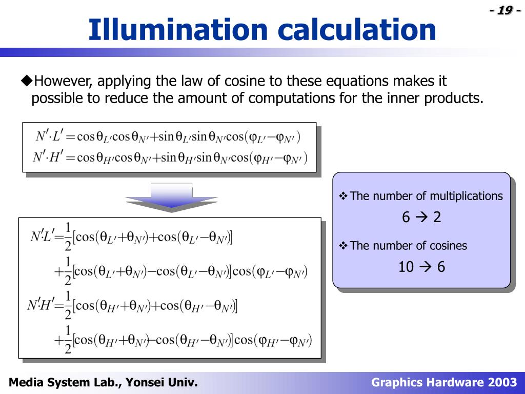 Illumination calculation