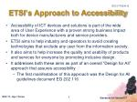 etsi s approach to accessibility