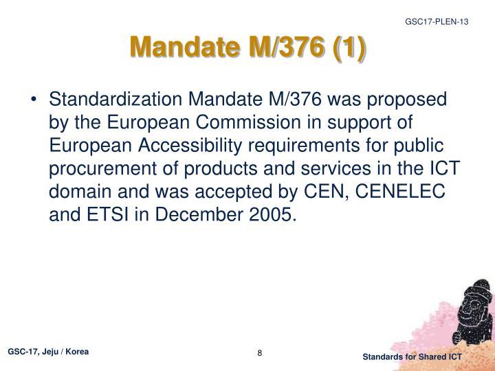 Mandate M/376 (1)