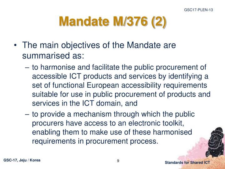 Mandate M/376 (2)