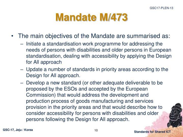 Mandate M/473