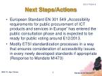 next steps actions