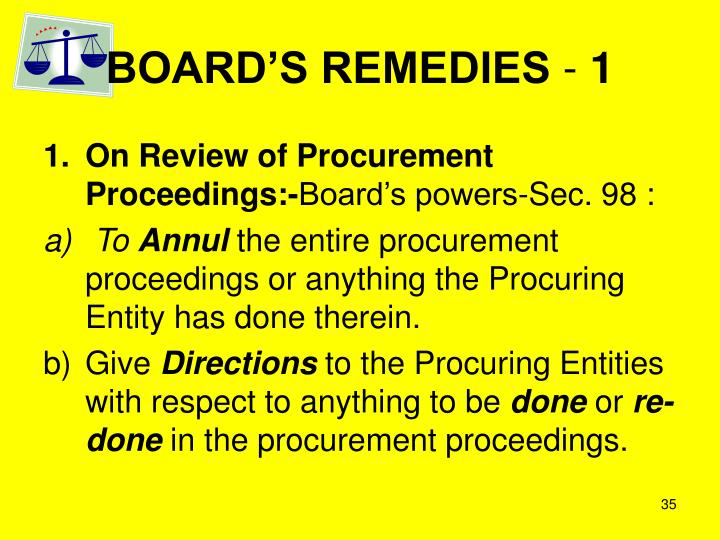 BOARD'S REMEDIES