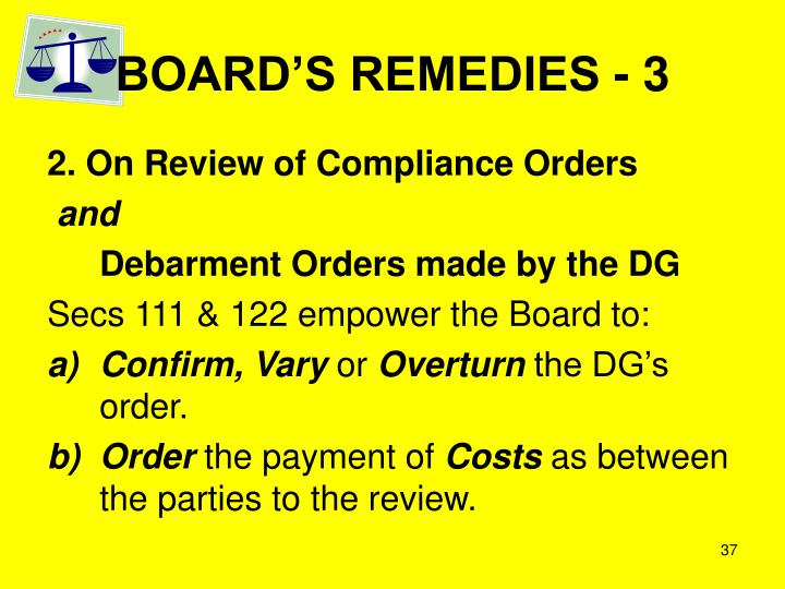 BOARD'S REMEDIES - 3