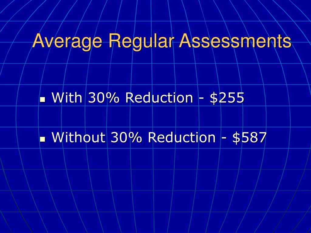 Average Regular Assessments