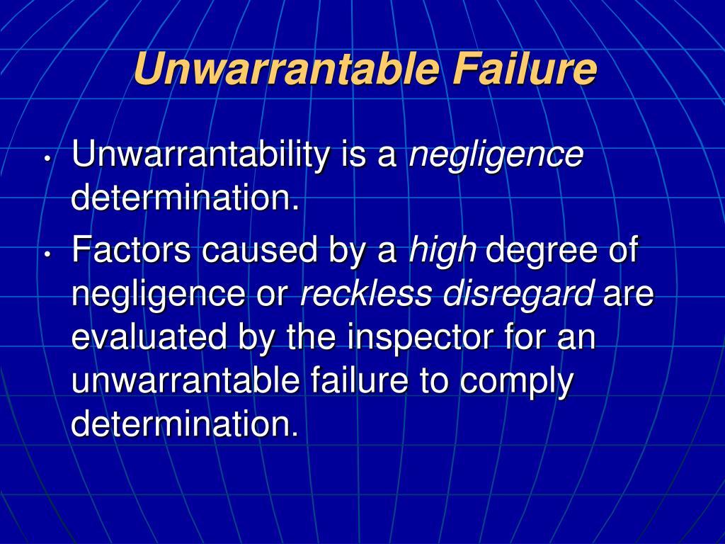 Unwarrantable Failure