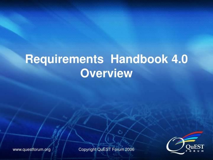 Requirements handbook 4 0 overview