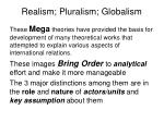 realism pluralism globalism