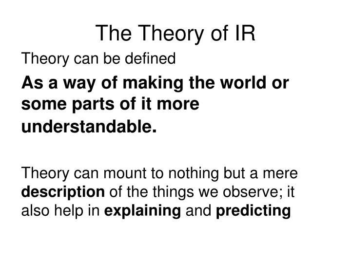 The Theory of IR