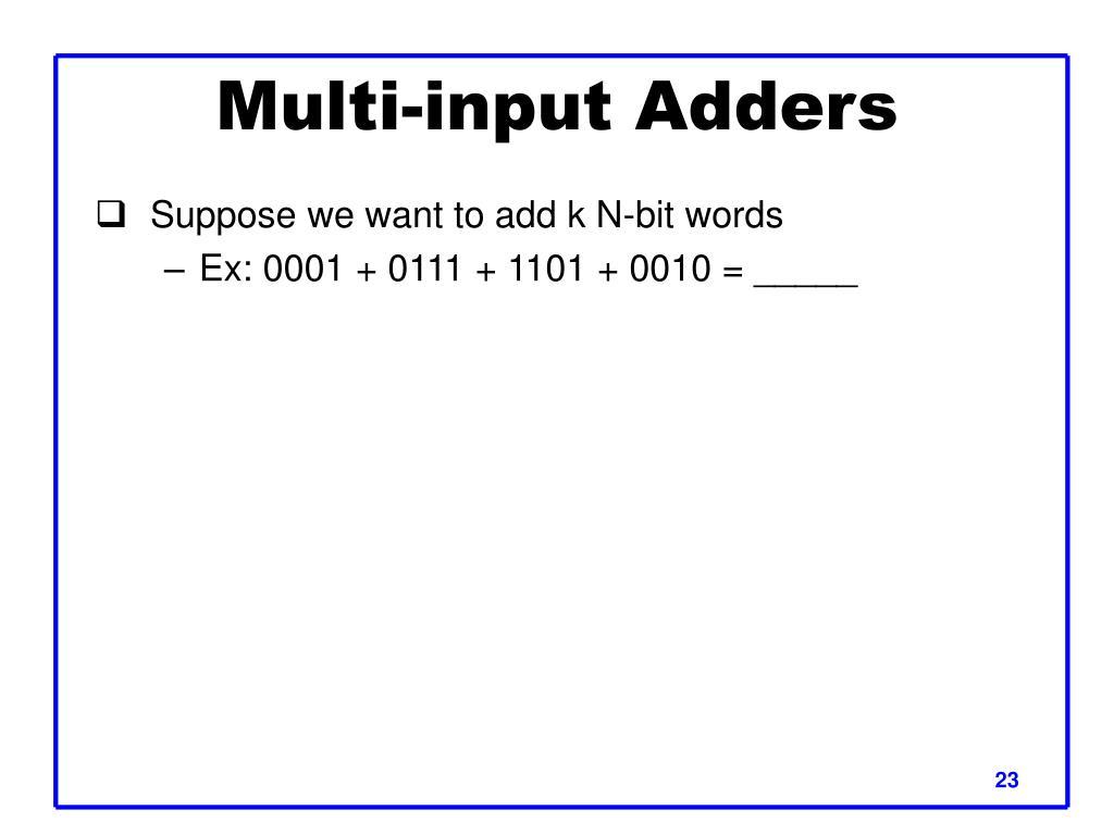 Multi-input Adders