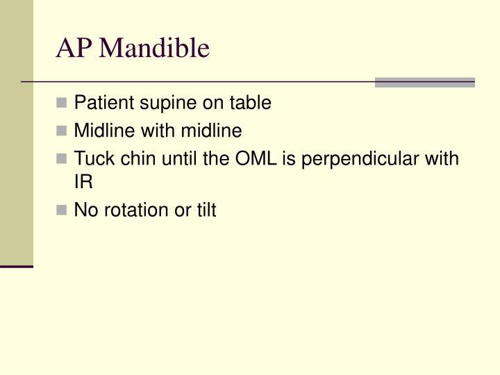 AP Mandible
