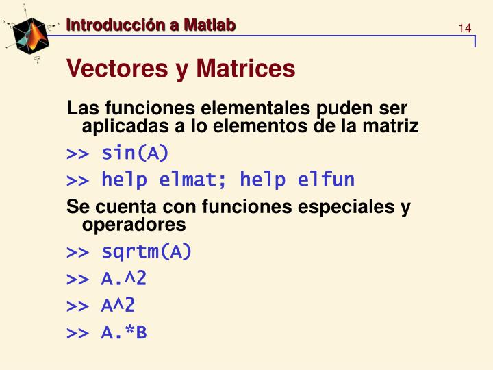 Vectores y Matrices