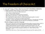 the freedom of choice act