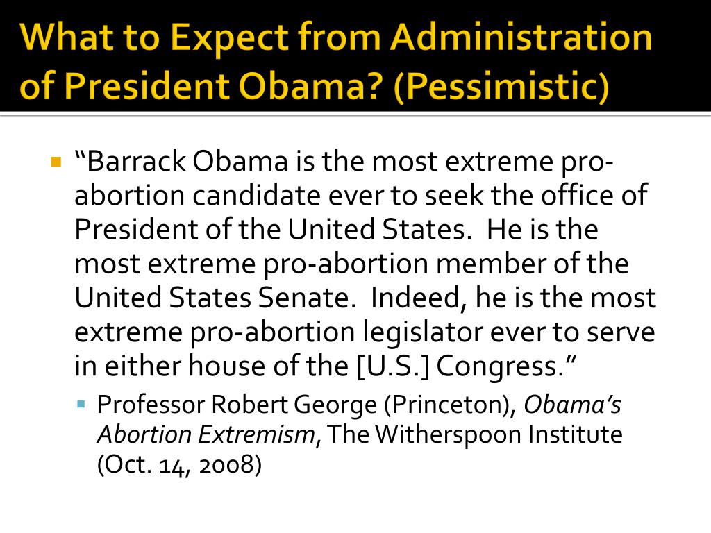What to Expect from Administration of President Obama? (Pessimistic)
