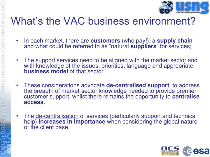 What's the VAC business environment?