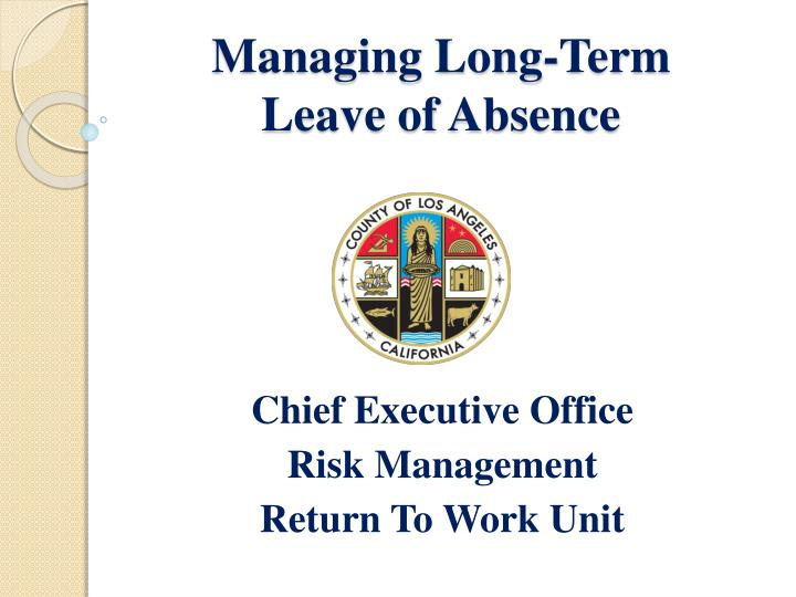 Managing long term leave of absence