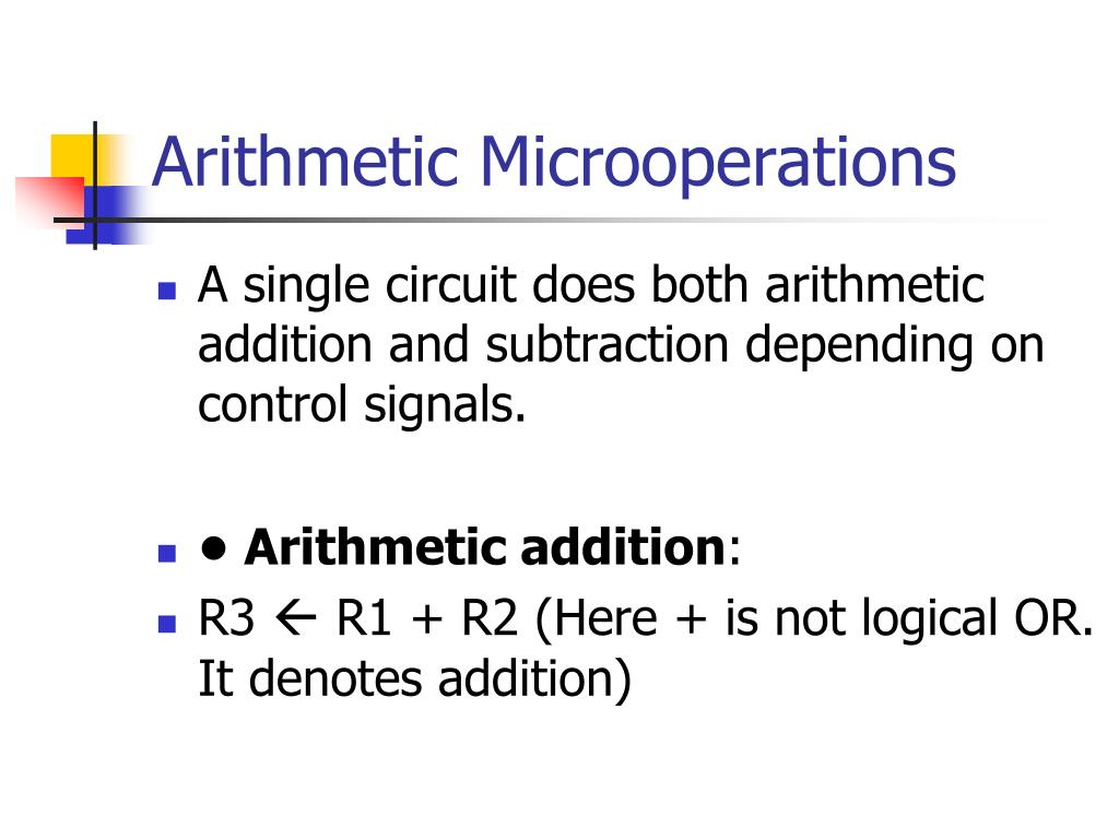 Arithmetic Microoperations