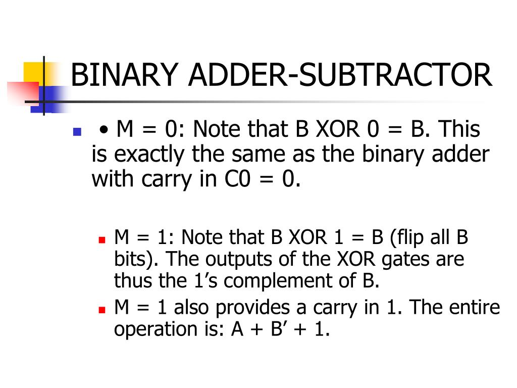 BINARY ADDER-SUBTRACTOR