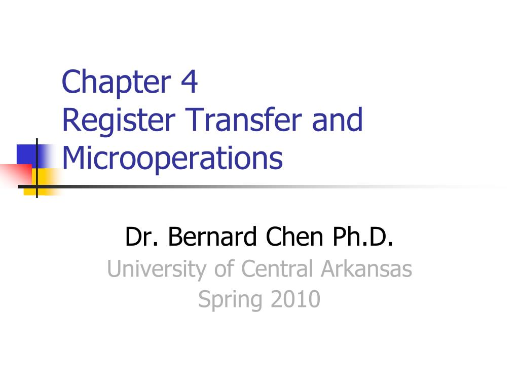 chapter 4 register transfer and microoperations