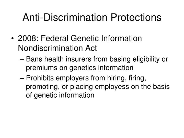Anti-Discrimination Protections