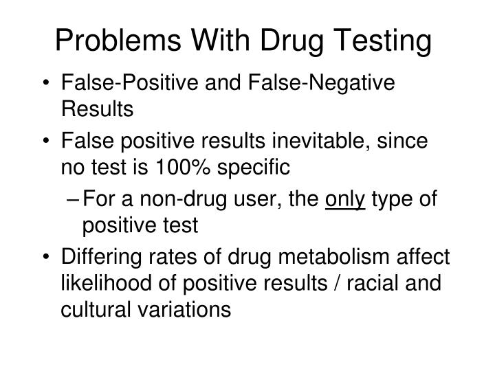 Problems With Drug Testing