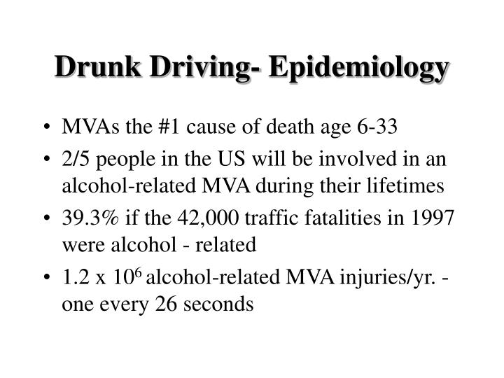 Drunk driving epidemiology