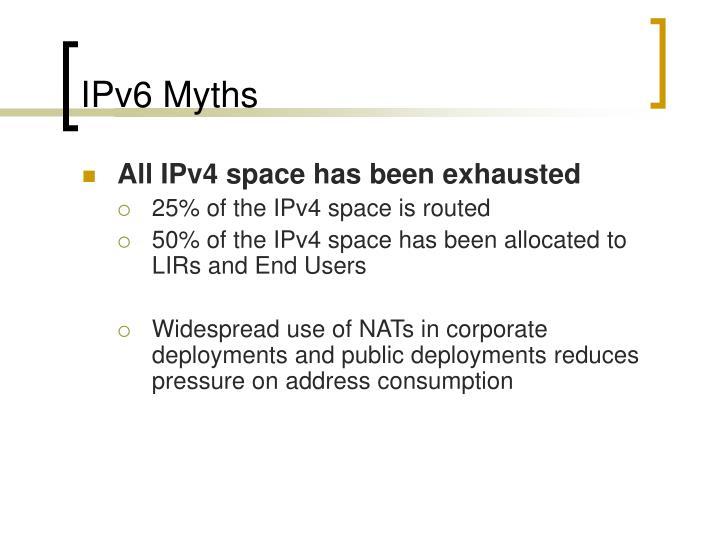 IPv6 Myths