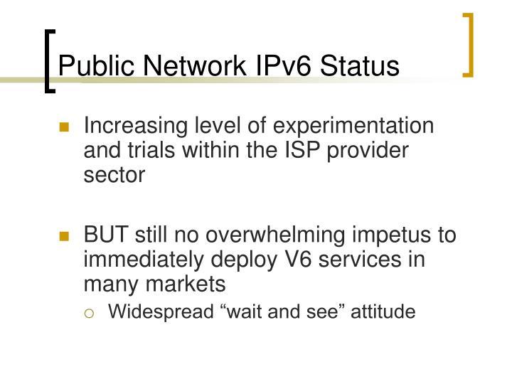 Public Network IPv6 Status