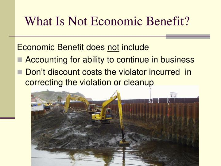What Is Not Economic Benefit?