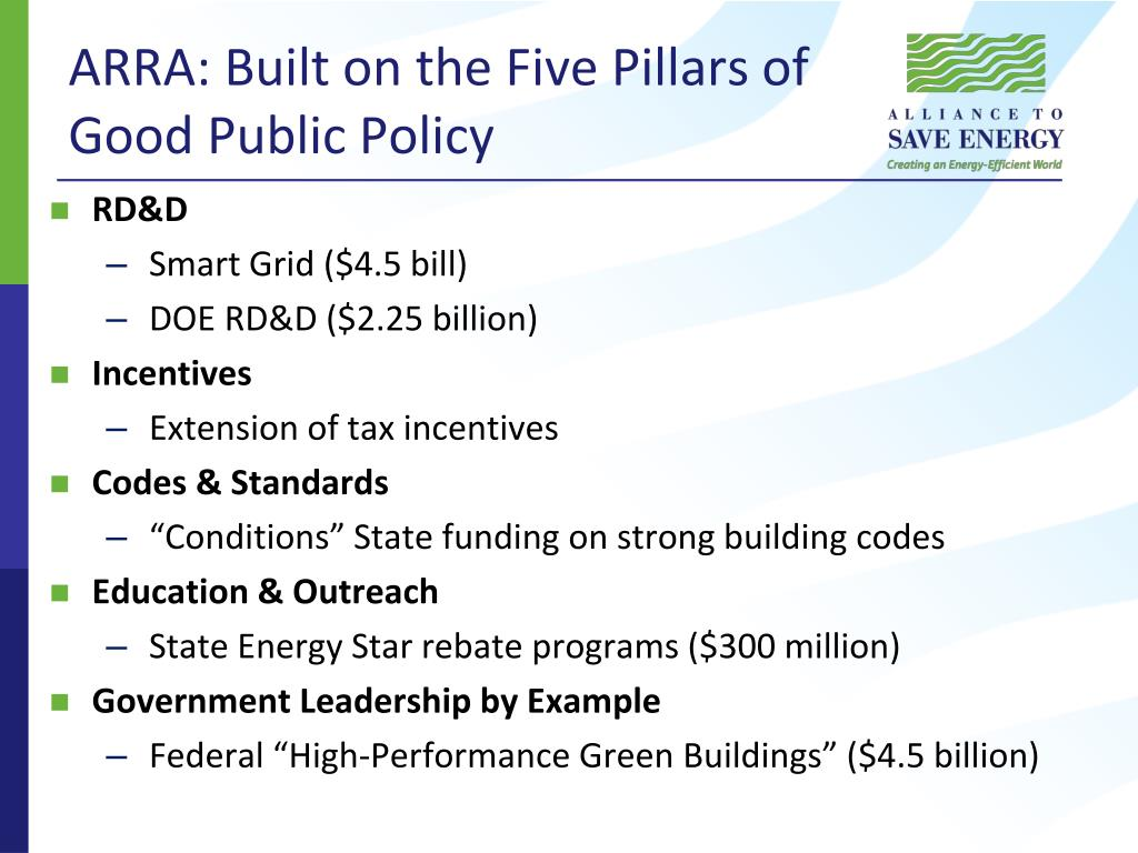 ARRA: Built on the Five Pillars of Good Public Policy