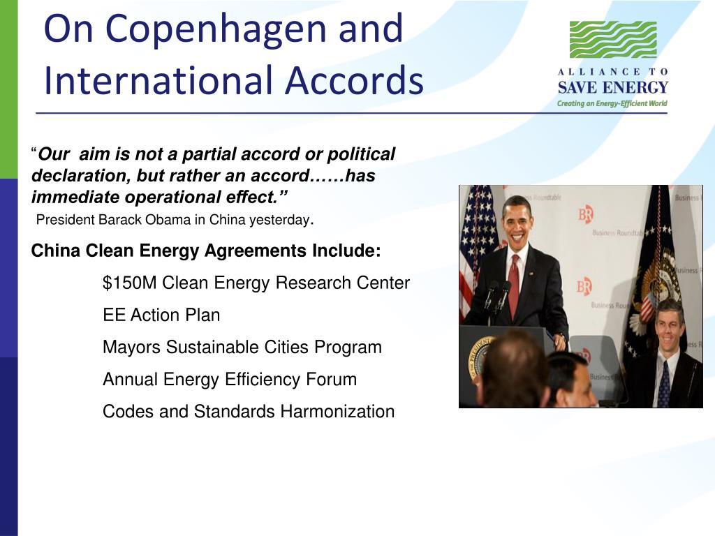 On Copenhagen and International Accords