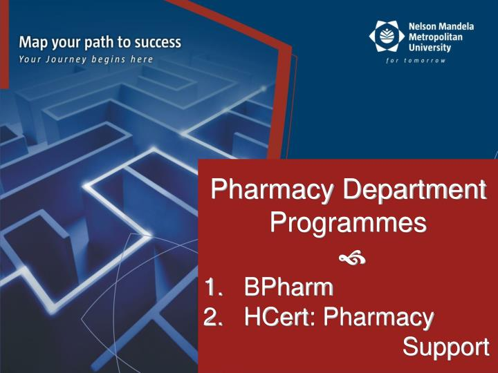 Pharmacy Department Programmes