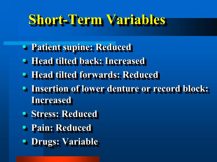 Short-Term Variables