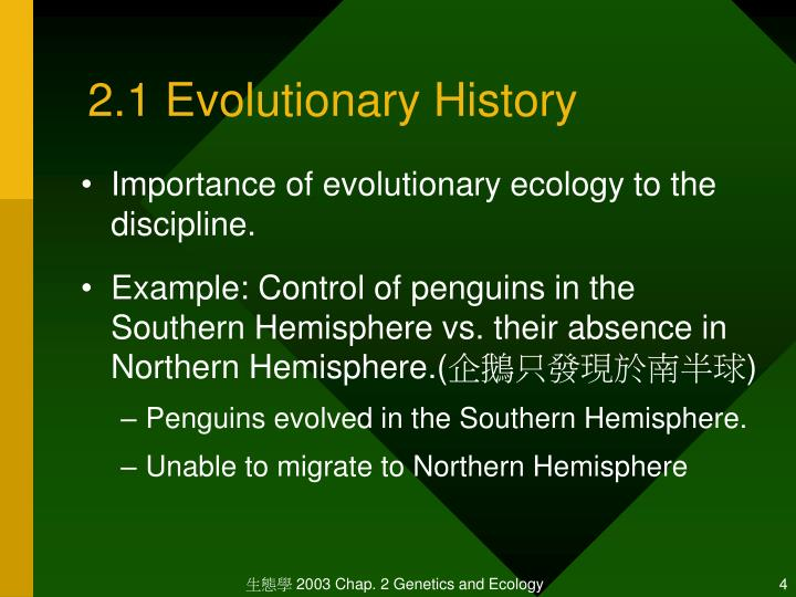 2.1 Evolutionary History