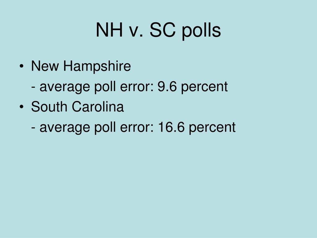 NH v. SC polls