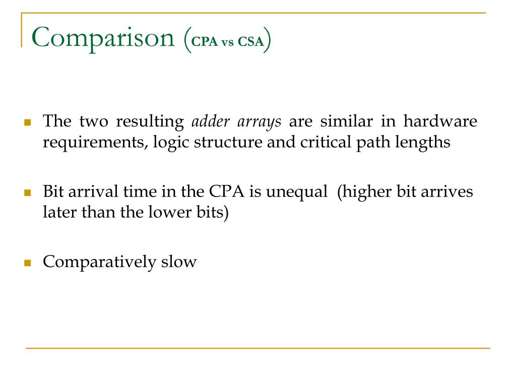 Comparison (