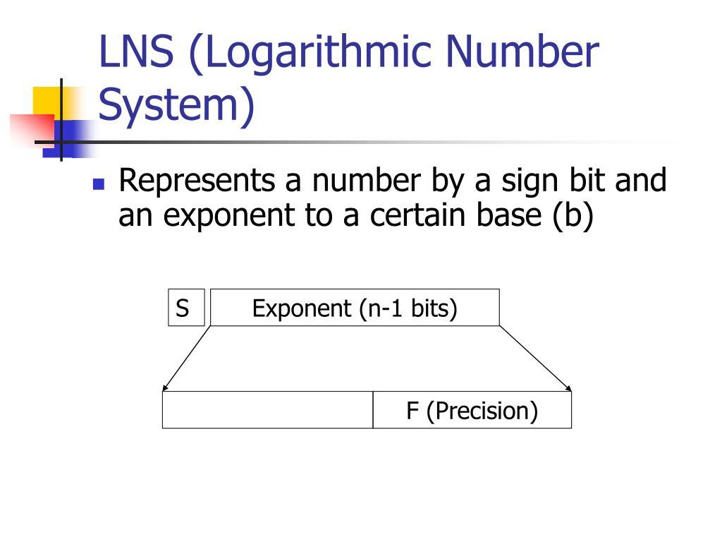 LNS (Logarithmic Number System)