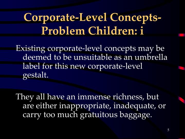 Corporate-Level Concepts- Problem Children: i