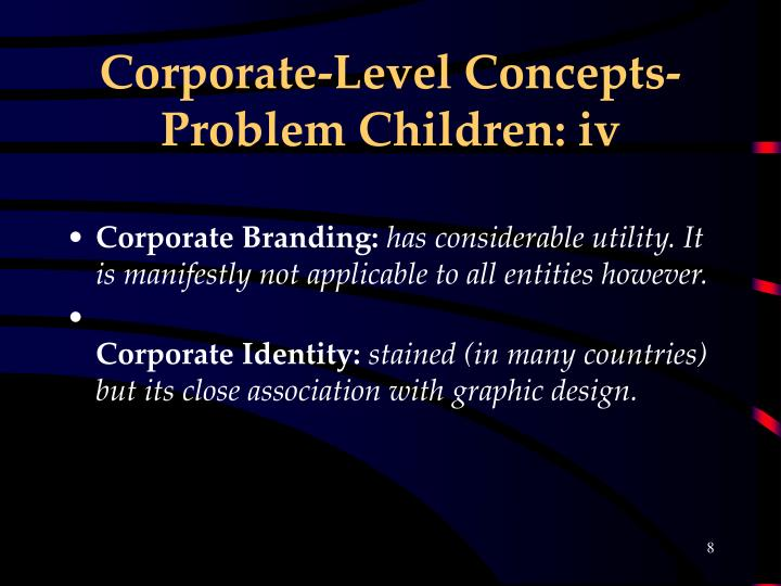 Corporate-Level Concepts- Problem Children: iv