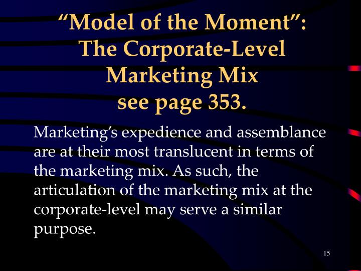 """Model of the Moment"":"