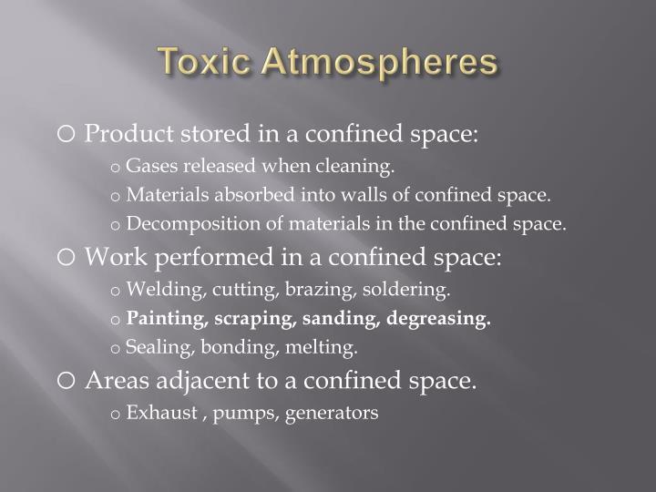 Toxic Atmospheres