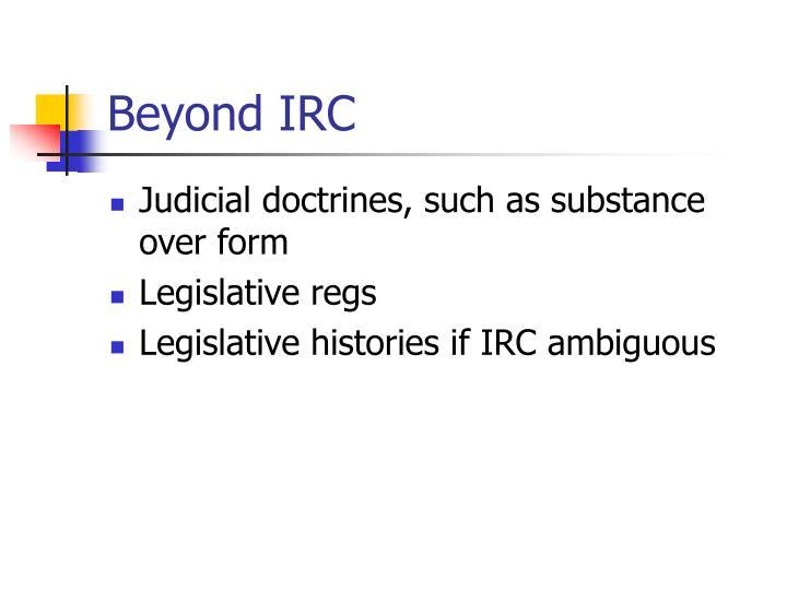 Beyond IRC