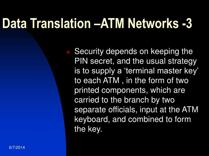 Data Translation –ATM Networks -3