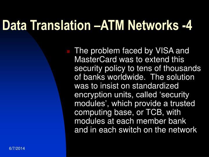 Data Translation –ATM Networks -4