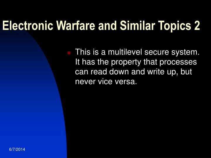 Electronic Warfare and Similar Topics 2