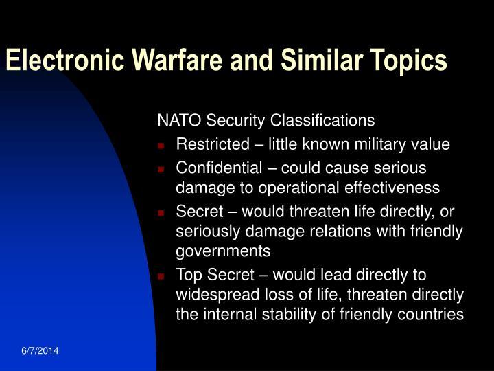 Electronic Warfare and Similar Topics