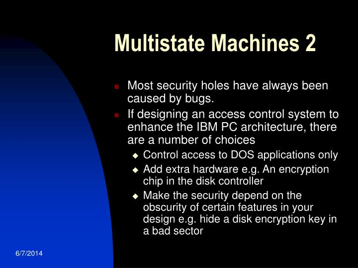 Multistate Machines 2