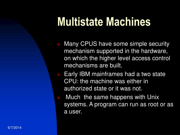 Multistate Machines