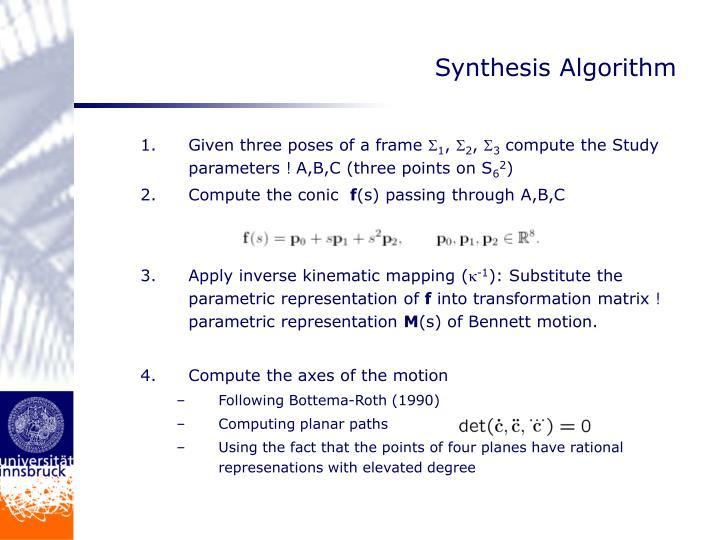 Synthesis Algorithm